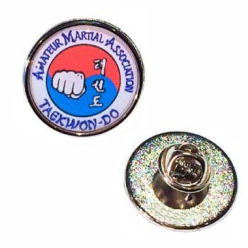 23mm premium silver badge